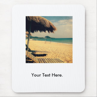 Summer Beach Greeting Mouse Pad
