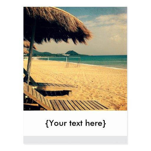 Summer Beach Greeting Post Card