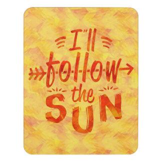 Summer Beach House Follow Sun Orange Sunshine Text Door Sign