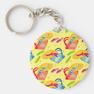 Summer beach keychain
