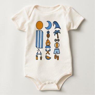 Beach Themed Summer beach life baby bodysuit