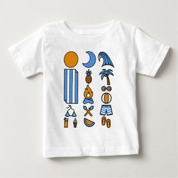 Beach Themed Summer beach life baby T-Shirt