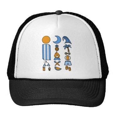 Beach Themed Summer beach life trucker hat