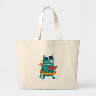 Summer Beach Monster Canvas Bag