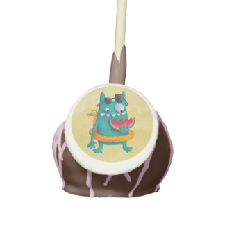 Summer Beach Monster Cake Pops