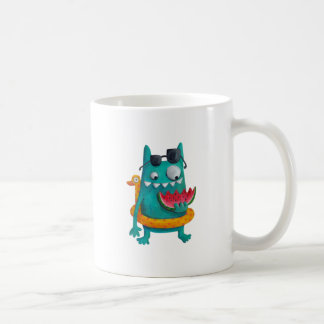 Summer Beach Monster Coffee Mug