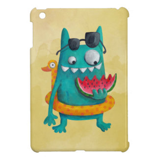 Summer Beach Monster iPad Mini Cover