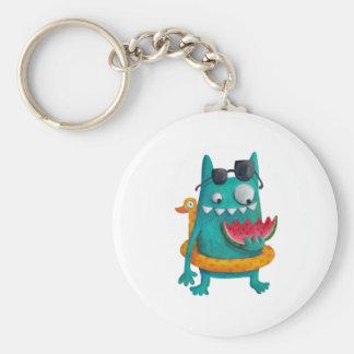 Summer Beach Monster Keychain
