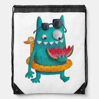 Summer Beach Monster Backpack