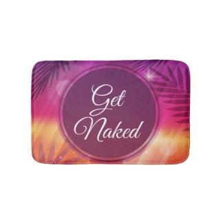 Summer Beach Night Palm Get Naked Bathroom Mat