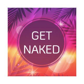 Summer Beach Night Palm Get Naked Canvas Print