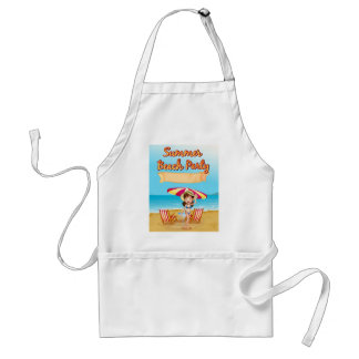 Summer beach party adult apron