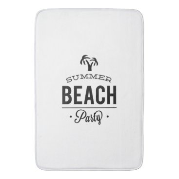 Summer Beach Party Bathroom Mat