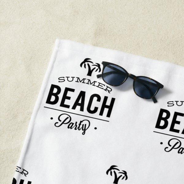 Summer Beach Party Beach Towel