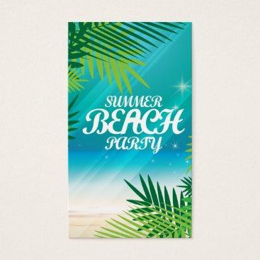 Beach Themed Summer Beach Party Business Card