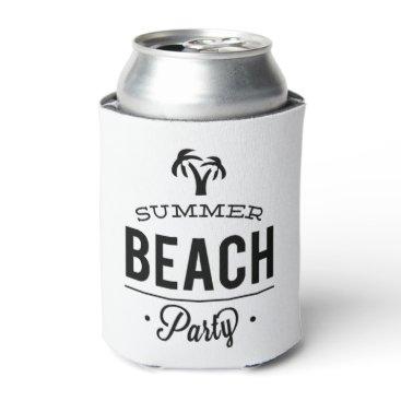 Summer Beach Party Can Cooler
