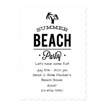 Beach Themed Summer Beach Party Card