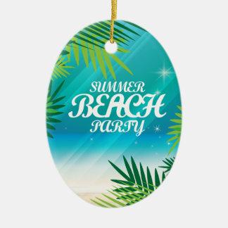 Summer Beach Party Ceramic Ornament