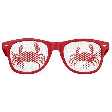 Beach Themed Summer Beach Party Crabs Retro Sunglasses
