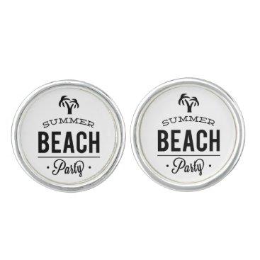Beach Themed Summer Beach Party Cufflinks