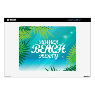 Summer Beach Party Decal For Laptop