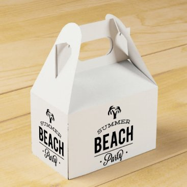 Summer Beach Party Favor Box
