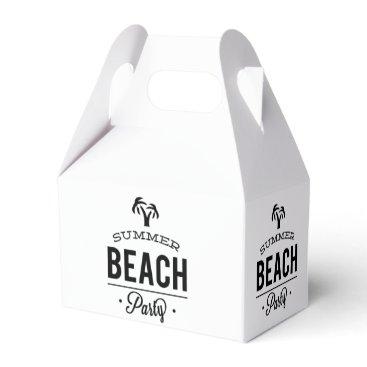 Beach Themed Summer Beach Party Favor Box