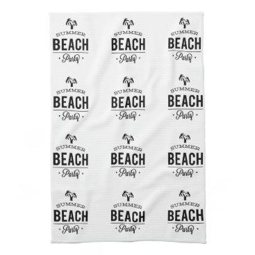 Summer Beach Party Hand Towel