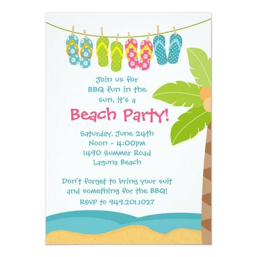 Summer Beach Party Invitation Zazzle