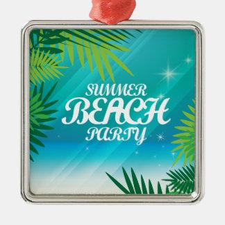 Summer Beach Party Metal Ornament
