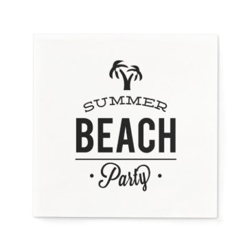 Summer Beach Party Napkin