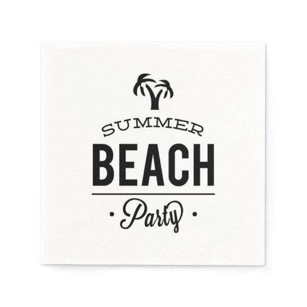 Summer Beach Party Napkin