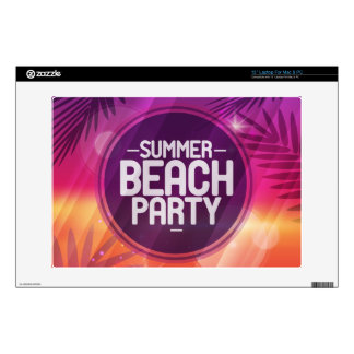 """Summer Beach Party Night Decal For 13"""" Laptop"""