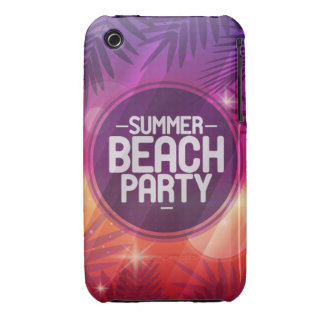 Summer Beach Party Night iPhone 3 Case-Mate Case