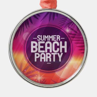 Summer Beach Party Night Metal Ornament