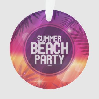 Summer Beach Party Night Ornament