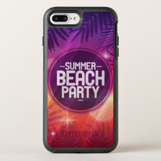 Summer Beach Party Night OtterBox Symmetry iPhone 8 Plus/7 Plus Case