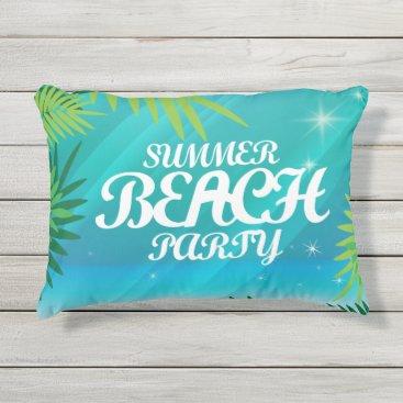 Beach Themed Summer Beach Party Outdoor Pillow