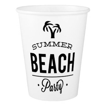 Summer Beach Party Paper Cup