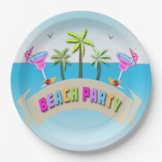 free summer beach party paper plates with beach plates.  sc 1 st  dossinsurance.com & Beach Plates. Stunning Beach Themed Table Setting In Aqua And Orange ...