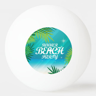 Summer Beach Party Ping-Pong Ball