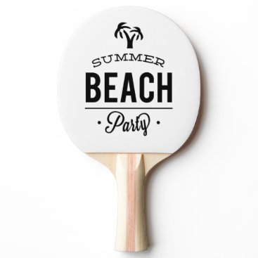 Summer Beach Party Ping Pong Paddle