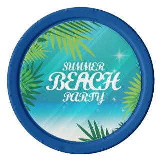 Summer Beach Party Poker Chips