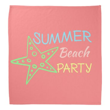 Beach Themed Summer Beach Party Pretty Pastels Bandana