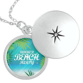Summer Beach Party Round Locket Necklace