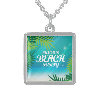 Summer Beach Party Sterling Silver Necklace
