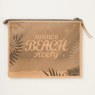 Summer Beach Party Travel Pouch