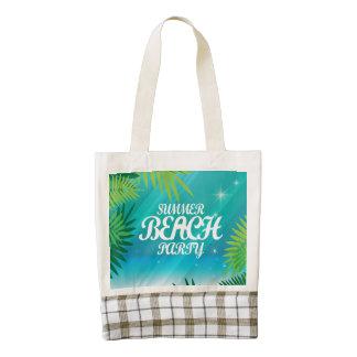 Summer Beach Party Zazzle HEART Tote Bag