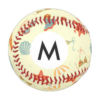 Summer Beach Pattern Baseball