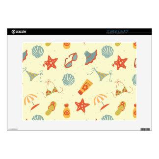 Summer Beach Pattern Laptop Skin